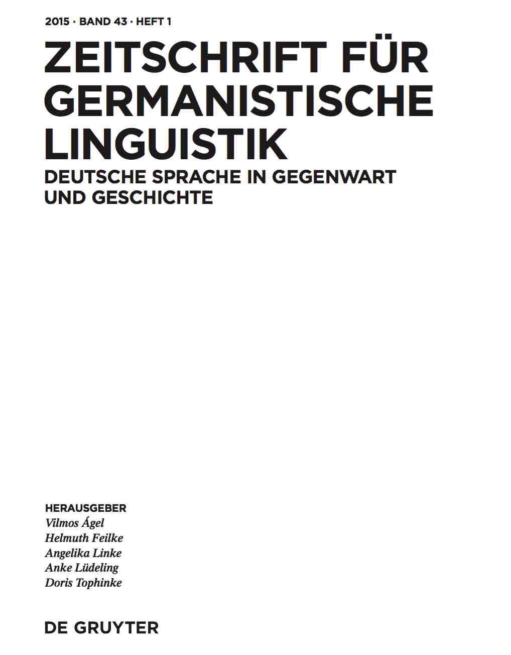 Herausgegeben von Noah Bubenhofer und Joachim Scharloth. Berlin & New York:  de Gruyter. - Weitere Informationen